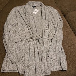 The Limited Grey Cardigan with tie XL